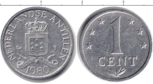 Картинка Дешевые монеты Антильские острова 1 цент Алюминий 1980