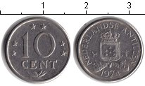 Изображение Барахолка Антильские острова 10 центов 1974 Медно-никель VF