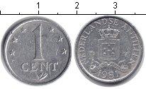 Изображение Барахолка Антильские острова 1 цент 1981 Алюминий VF