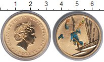 Изображение Монеты Австралия 1 доллар 2014  Proof- Елизавета II. Инвиси