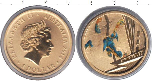 Картинка Монеты Австралия 1 доллар  2014