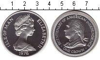 Изображение Монеты Великобритания Остров Мэн 1 крона 1976 Серебро Proof-
