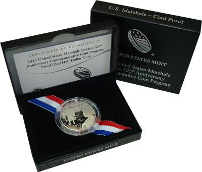 Изображение Подарочные монеты США 1/2 доллара 2015 Медно-никель Proof 225 лет Службе судеб