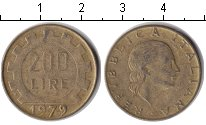 Изображение Дешевые монеты Италия 200 лир 1979  VF