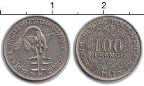 Изображение Монеты Западно-Африканский Союз 100 франков 1967 Медно-никель XF Золотая гиря Ашанти