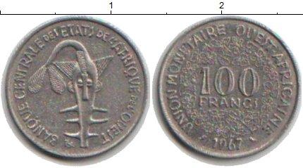 Картинка Монеты Западно-Африканский Союз 100 франков Медно-никель 1967