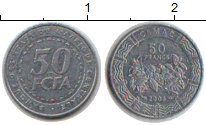 Изображение Монеты КФА 50 франков 2006 Медно-никель XF Цветы