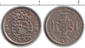 Картинка Монеты Ангола 2 1/2 эскудо Медно-никель 1953