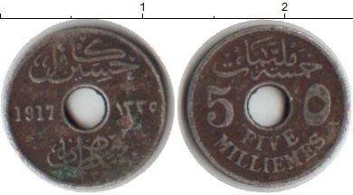 Картинка Монеты Египет 5 миллим Медно-никель 1917
