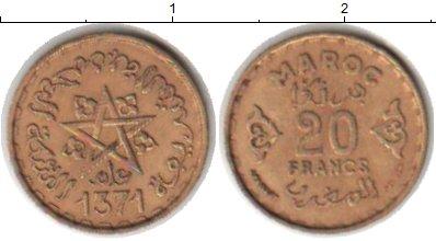 Картинка Монеты Марокко 20 франков  1371