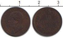 Изображение Монеты Италия 10 сентесим 1865 Медь VF Витторио Имануил II