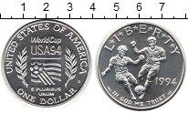 Изображение Монеты США 1 доллар 1994 Серебро UNC- Чемпионат мира по фу