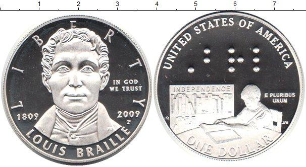 Картинка Монеты США 1 доллар Серебро 2009