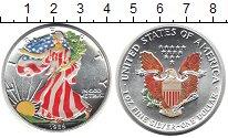 Дешевая монета сша 1 доллар серебро - 1989 год.