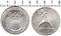 Изображение Монеты США 1 доллар 1992 Серебро UNC- 1992 Олимпийские игр