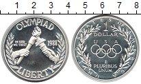 Изображение Монеты США 1 доллар 1988 Серебро Proof- Олимпиада