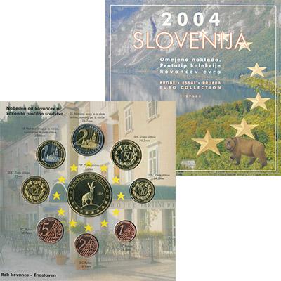 Изображение Подарочные монеты Словения Евро-модель 2004  UNC 9 моделей евро-монет