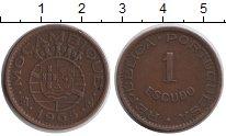 Изображение Монеты Мозамбик 1 эскудо 1965 Медь XF
