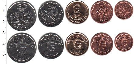 Изображение Наборы монет Свазиленд Свазиленд 2011 2011  UNC В наборе 5 монет ном
