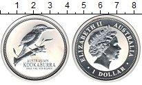 Изображение Монеты Австралия 1 доллар 2003 Серебро Proof- Елизавета II. Кукаба