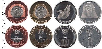 Изображение Наборы монет Аргентина Антарктида 2015 2015  UNC- В наборе 4 монеты но