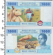 Изображение Боны КФА 1000 франков 2002  UNC- Трактор