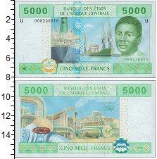 Изображение Банкноты Центральная Африка 5000 франков 2002  UNC
