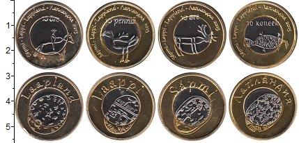 Изображение Наборы монет Лапландия Лапландия 2015 2015 Биметалл UNC- В наборе 4 монетовид