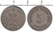 Изображение Монеты Германия 5 пфеннигов 1898 Медно-никель XF