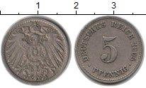 Изображение Монеты Германия 5 пфеннигов 1905 Медно-никель XF