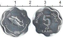 Изображение Монеты Мальдивы 5 лаари 1984 Алюминий XF