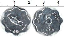 Изображение Монеты Мальдивы 5 лари 1984 Алюминий XF