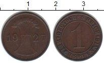 Изображение Монеты Веймарская республика 1 пфенниг 1927 Медь XF Е