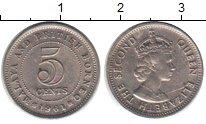 Изображение Мелочь Борнео 5 центов 1961 Медно-никель XF