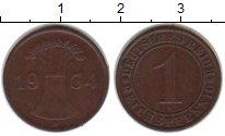 Изображение Монеты Веймарская республика 1 пфенниг 1934 Медь XF A