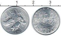 Изображение Монеты Сан-Марино 1 лира 1976 Алюминий UNC-