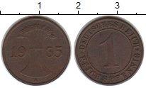 Изображение Монеты Веймарская республика 1 пфенниг 1935 Медь XF A