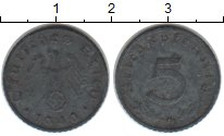Изображение Монеты Третий Рейх 5 пфеннигов 1940 Цинк VF