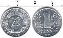 Изображение Монеты ГДР 1 пфенниг 1975 Алюминий XF