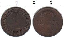 Изображение Монеты Веймарская республика 1 пфенниг 1931 Медь XF