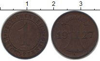 Изображение Монеты Веймарская республика 1 пфенниг 1927 Медь XF E