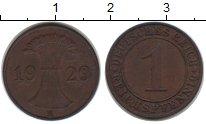 Изображение Монеты Веймарская республика 1 пфенниг 1929 Медь XF E