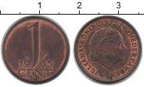 Изображение Монеты Нидерланды 1 цент 1965 Медь XF Юлиана