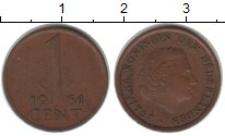 Изображение Монеты Нидерланды 1 цент 1961 Медь XF