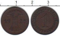 Изображение Монеты Веймарская республика 1 пфенниг 1925 Медь XF E
