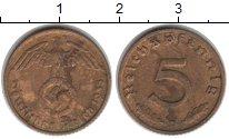 Изображение Монеты Третий Рейх 5 пфеннигов 1938 Медь XF