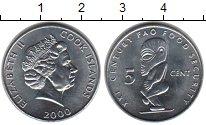 Изображение Монеты Острова Кука 5 центов 2000  Proof-