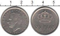 Изображение Монеты Испания 25 песет 1982 Медно-никель XF Хуан Карлос I