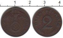 Изображение Монеты Третий Рейх 2 пфеннига 1939 Медь XF