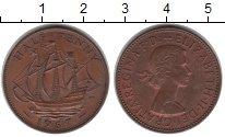 Изображение Монеты Великобритания 1/2 пенни 1967 Медь XF Елизавета II. Парусн